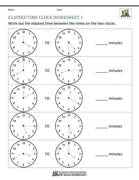 free printable worksheets elapsed time elapsed time worksheets