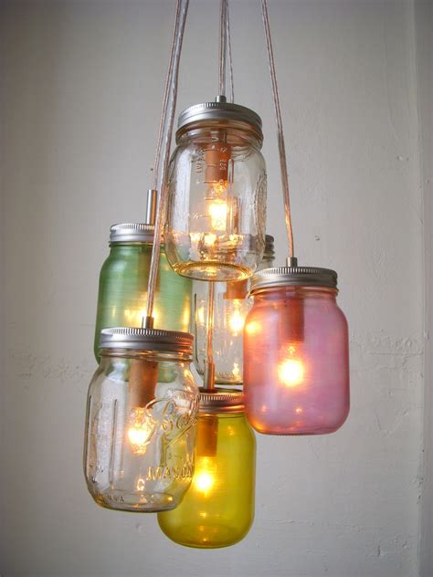 mason jar lights light and lovely hip diy light fixture ideas