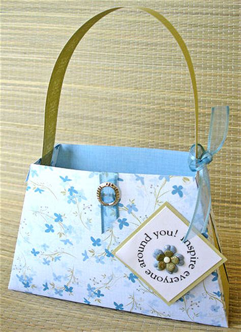 How To Make A Paper Purse - paper purse class a cherry on top