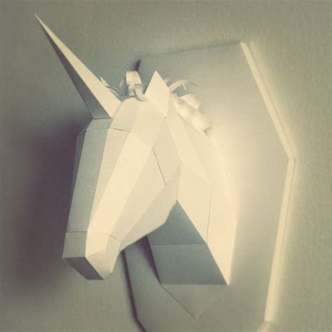 3d Model Papercraft - paper model unicorn 3d diy room decoration