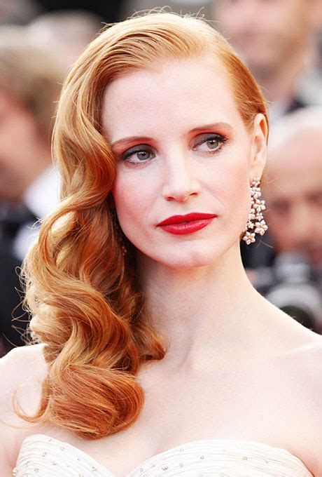 old hollywood glamour hairstyles old hollywood inspired wedding hair jessica chastain s