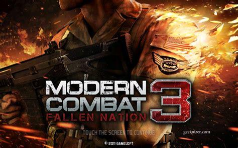 mc3 apk modern combat 3 apkmania