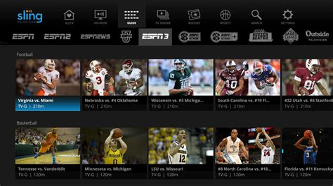 add channels add a channel pick and pay shaw sling tv greets 2016 with new guide content from espn3