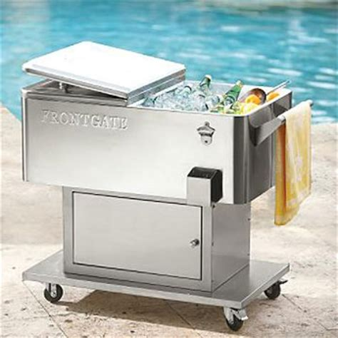 stainless steel cooler on wheels images frompo
