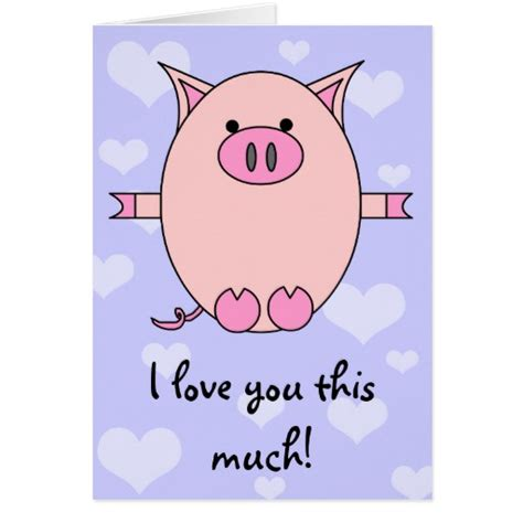 Can You Use Love To Shop Gift Card Online - i love you this much piggy power card zazzle