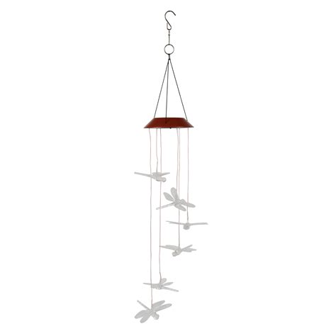 solar powered wind chime light solar powered color changing led wind spinner light