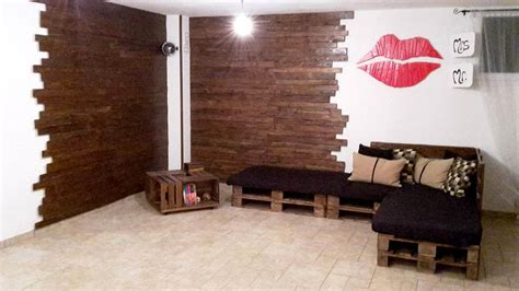 pallet living room pallet wall paneling wall sitting furniture pallet furniture diy