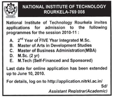 Nit Rourkela Mba Cut by Odisha Hrd 187 Nit Rourkela Offers Mba Ma In Developmental