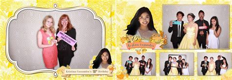 photo booth layout design for debut kristina cassandra 18th birthday xpressbooth photo booth