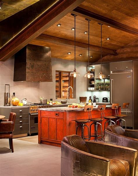 log home kitchen design rustic kitchens design ideas tips inspiration
