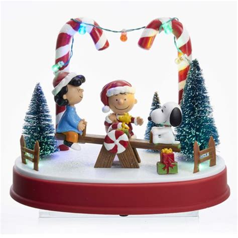 peanuts animated musical 8 3 4 inch musical led statue