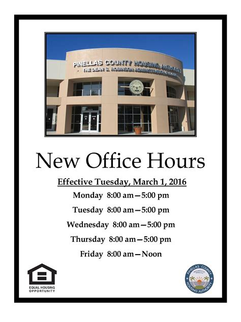 new office hours effective tuesday march 1st