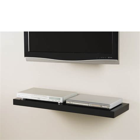 floating media shelf black media floating shelf kit 900x300x50mm ebay