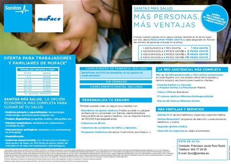 muface cuadro medico sanitas muface 2013 seguros el de los seguros
