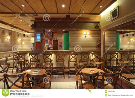 Wooden Chairs For Restaurant Cafe Interior Stock Photo Image Of Bistro Lifestyle