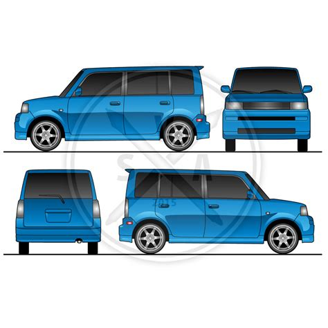 Scion Xb Wrap Design Template Stock Vector Art Trailer Wrap Design Templates