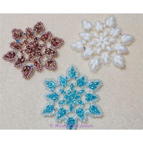 snowflake bead pattern snowflake 3 beaded ornament pattern west texas jewels