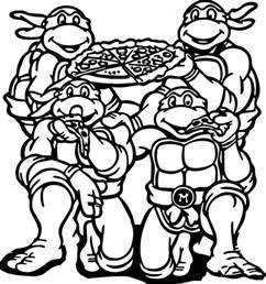 teenage mutant ninja turtles coloring pages birthday ideas ninja turtles