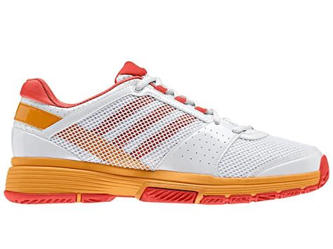 Adidas Sepatu Tennis Badminton Barricade Court White Orange Shoes Ori adidas womens stella mccartney barricade team 3 shoes
