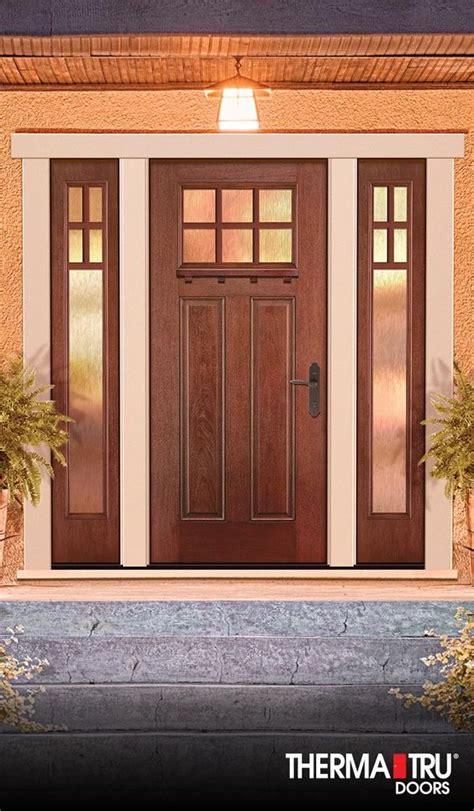 therma tru front doors therma tru fiber classic mahogany collection fiberglass