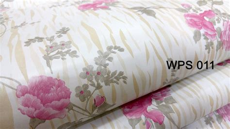 Wallpaper Sticker 011 jual wallpaper sticker 45cmx5m wps011 pink gold motif