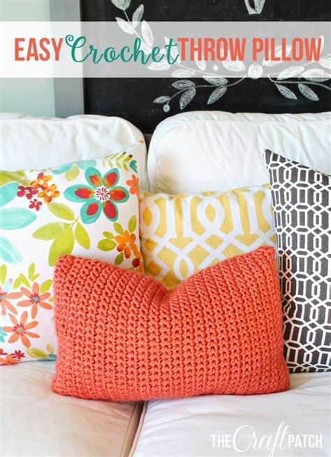 Crochet Pillow Patterns For Beginners by The Craft Patch Easy Crochet Throw Pillow