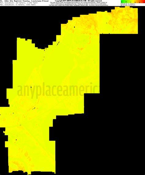 south louisiana elevation map free st the baptist parish louisiana topo maps