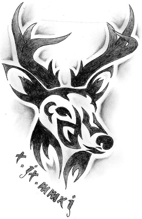 tribal tattoos dated tribal deer design by sophiieesanity memory of