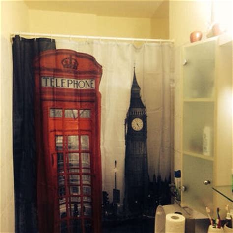 london themed bathroom decor best shower curtains on etsy products on wanelo