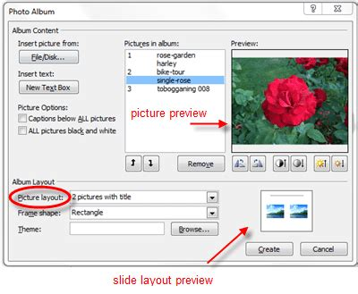 powerpoint photo album layout create digital photo albums in powerpoint 2010