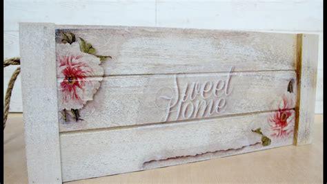 como decorar cajas de madera en vintage decorar caja de madera con decoupage youtube