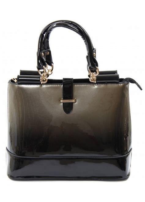 Designer Vs High Ombre Tote by Ombre Design Bag Patent Handbag Black Ombre Handbag