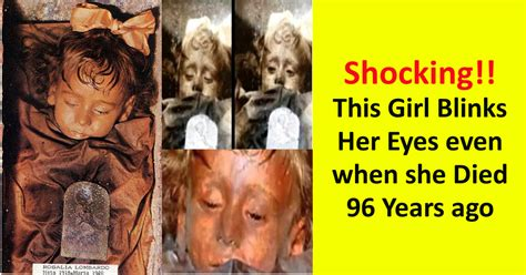 rosalia lombardo  girl  blinks  eyes   death