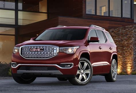 weight of gmc acadia 2017 gmc acadia drops weight ups the power live photos