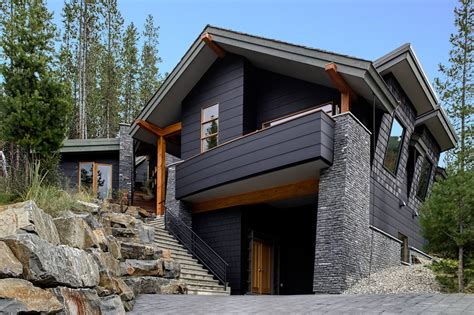 certainteed siding colors exterior contemporary with balcony black cladding black house boulders