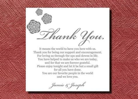 thank you letter sle wedding gift wedding thank you note template wedding ideas thank