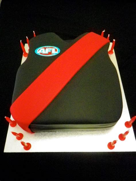 Essendon jersey cake   Cakes   Pinterest   Cake, Birthday