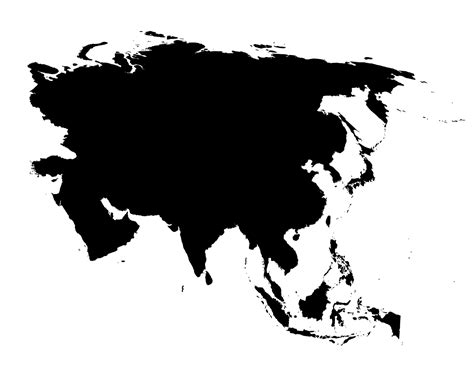 Free Asia Outline Map Vector by Blank Map Of Asia Printable