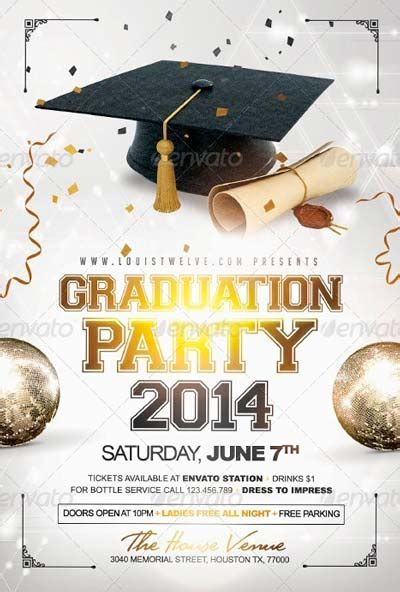free templates for graduation flyers 12 graduation templates free psd images graduation party