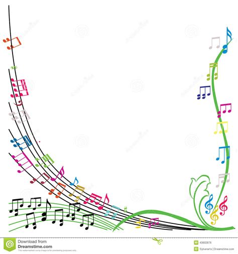 theme line pulsa xl music notes composition stylish musical theme background