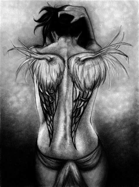 grey ink angel and black images designs