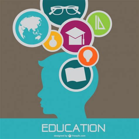 education design flat vector template education design vector free