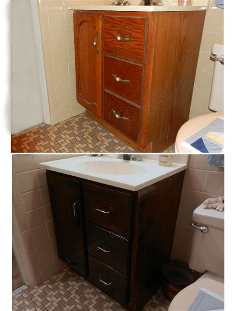 not all write optimism and a refinished bathroom vanity