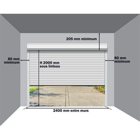 porte de garage sectionnelle ou enroulable porte garage enroulable hauteur linteau voiture et