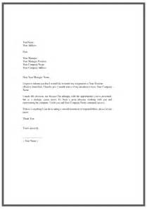 Letter Of Resignation Exles by Resignation Letter Template