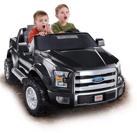 wheels motorized jeep fisher power wheels ford f 150 12v battery powered ride on
