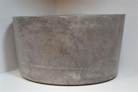 large dark gray concrete planter  rosebud designs
