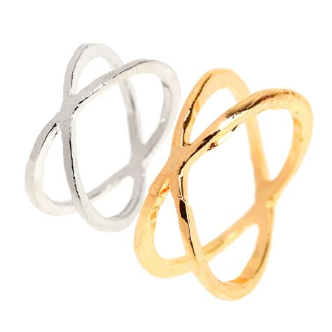 korean simple ring fashion cross finger