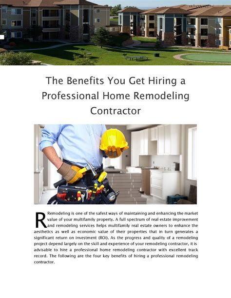 the benefits you get hiring a professional home remodeling