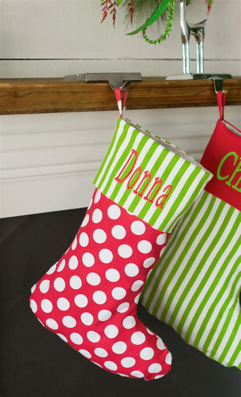 monogrammed christmas stockings monogrammed polka dot christmas stocking personalized